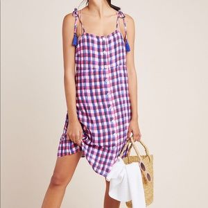 NEW Anthropologie Checked Cover-Up Dress